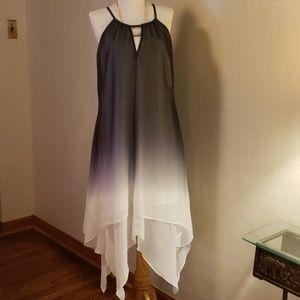 INC International multi-lyrd sheer dress. Size Lrg